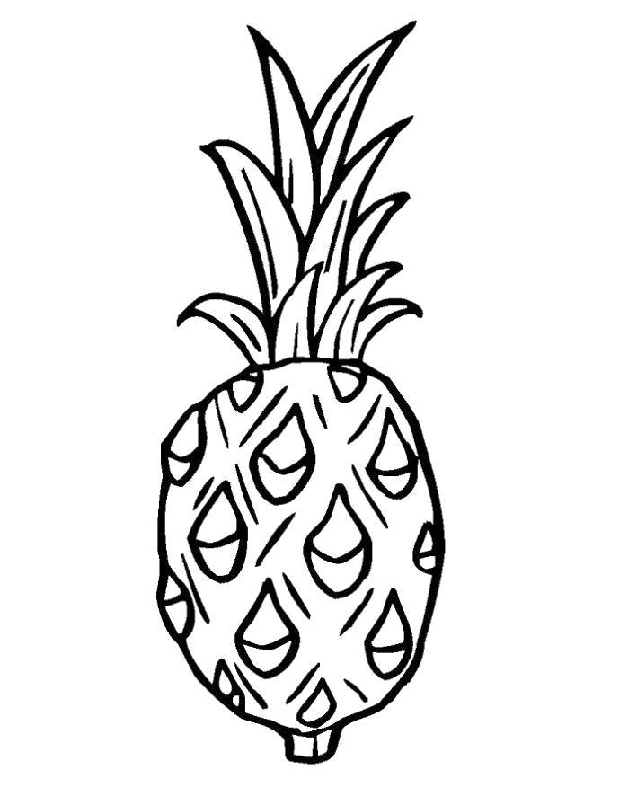 Название: Раскраска Раскраска Ананас для детей. Категория: Фрукты. Теги: ананас.