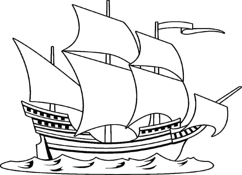 Раскраска  для мальчиков. Скачать корабль.  Распечатать для мальчиков