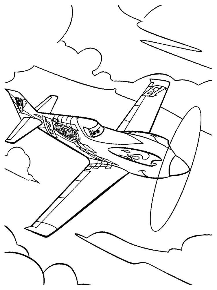 Раскраска Самолеты - картинки для раскрашивания. самолет