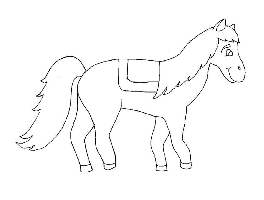 Раскраска Раскраска Лошадка детская. Лошадка