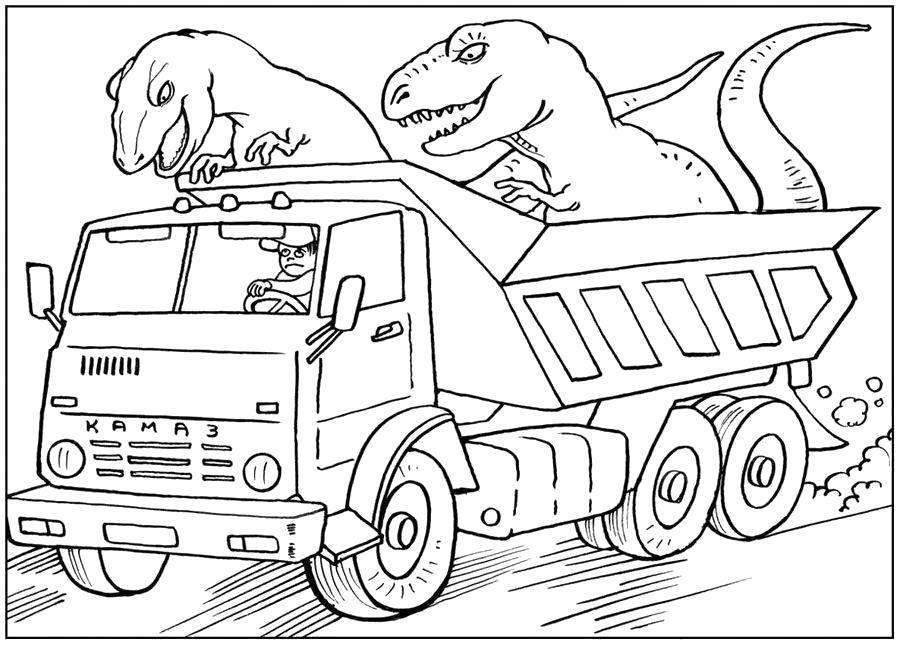 """Раскраска  """"камазы для мальчиков"""" скачать и распечатать бесплатно. Скачать грузовик.  Распечатать для мальчиков"""