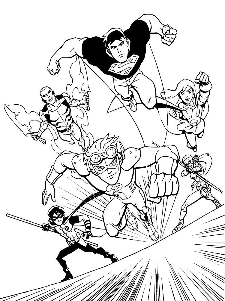 Раскраска Раскраски для детей Лига справедливости.