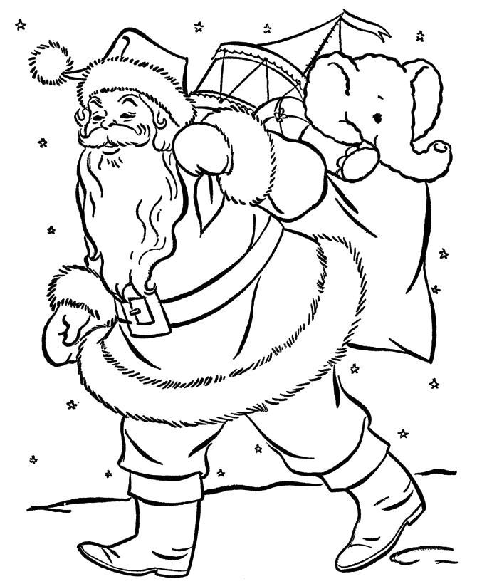 Раскраска Санта Клаус.