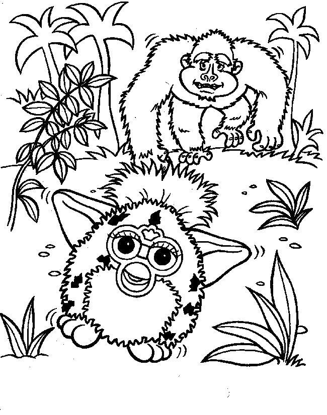 Раскраска Ферби в джунглях. Скачать Ферби бум.  Распечатать Ферби бум