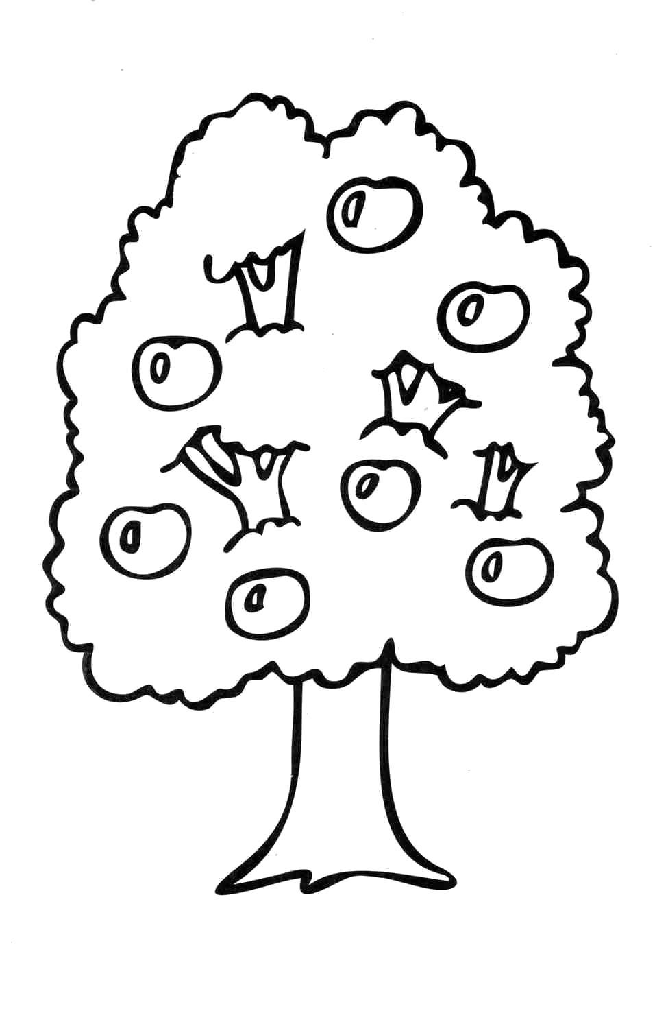 Раскраски деревья, Страница:3.