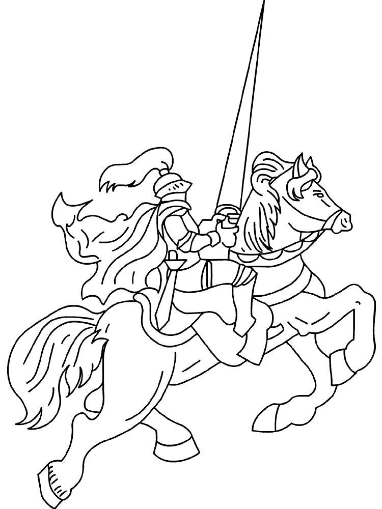 Раскраска Огромный меч. рыцари