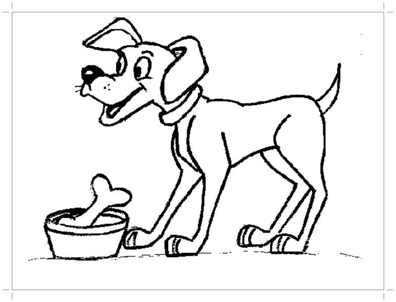 Раскраска Собака раскраска для детей. Домашние животные