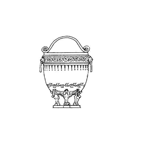 Раскраска старинная ваза. Скачать Ваза.  Распечатать Ваза