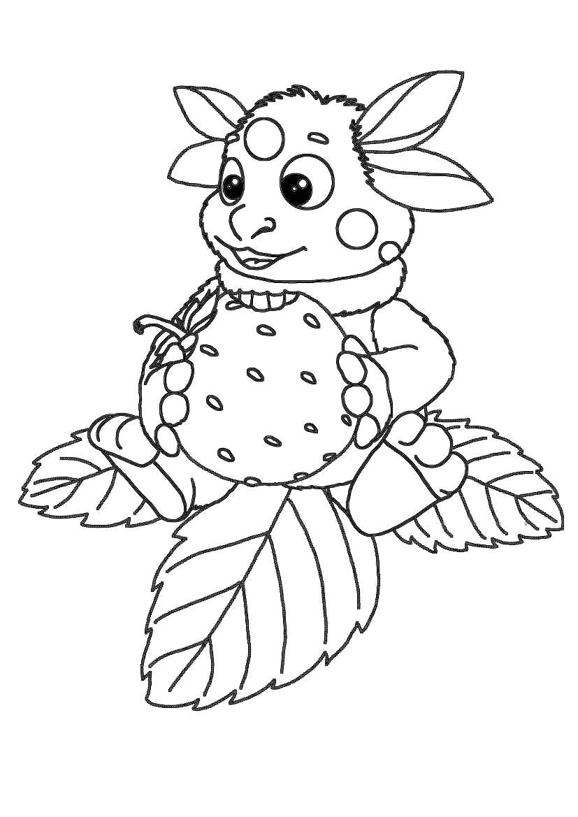 Название: Раскраска Лунтик с земляничкой. Категория: Лунтик. Теги: Лунтик.