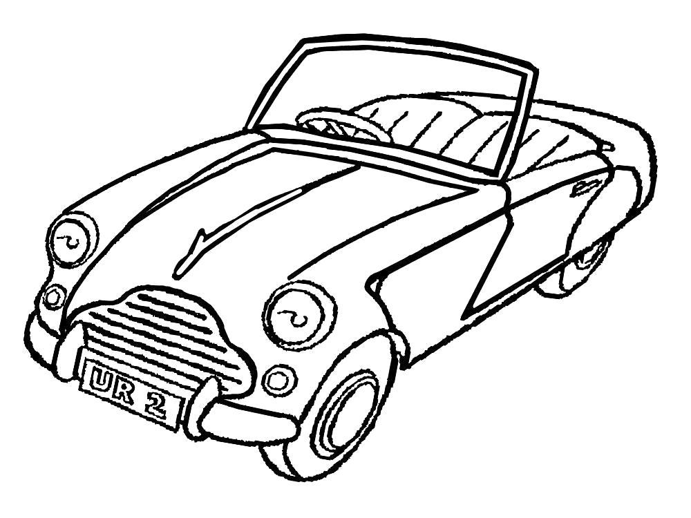 Раскраска Старый автомобиль. для мальчиков
