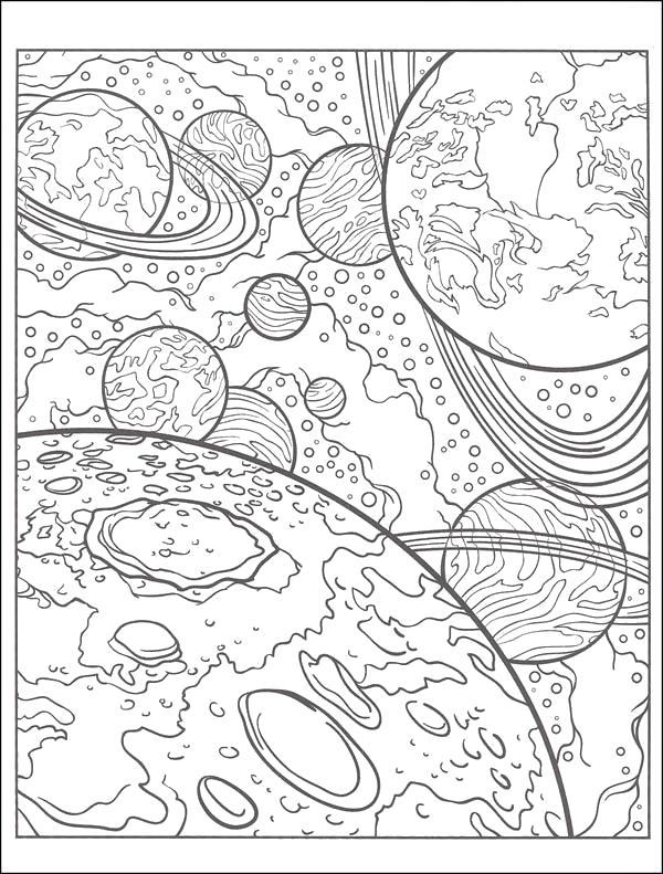 Раскраска Космос. Скачать узоры.  Распечатать антистресс