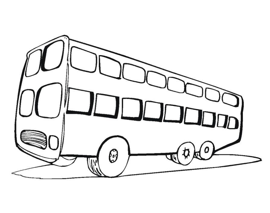 Раскраска Раскраска автобус детям. Автобус