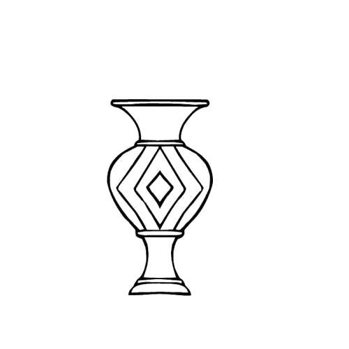 Раскраска медная ваза. Скачать Ваза.  Распечатать Ваза