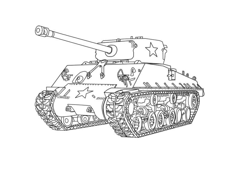 """Раскраска  """"танк т 34"""" . Скачать танк.  Распечатать танк"""