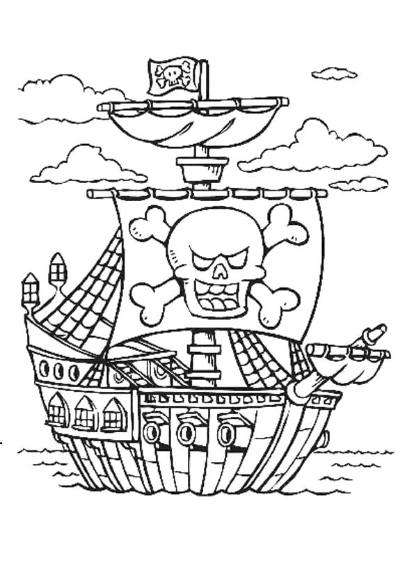 Раскраска Пиратские корабли. для мальчиков
