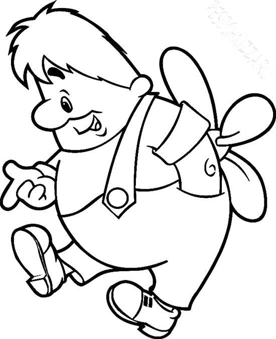 Раскраска  - герои мультфильмов,карлсон. Скачать карлсон.  Распечатать герои сказок