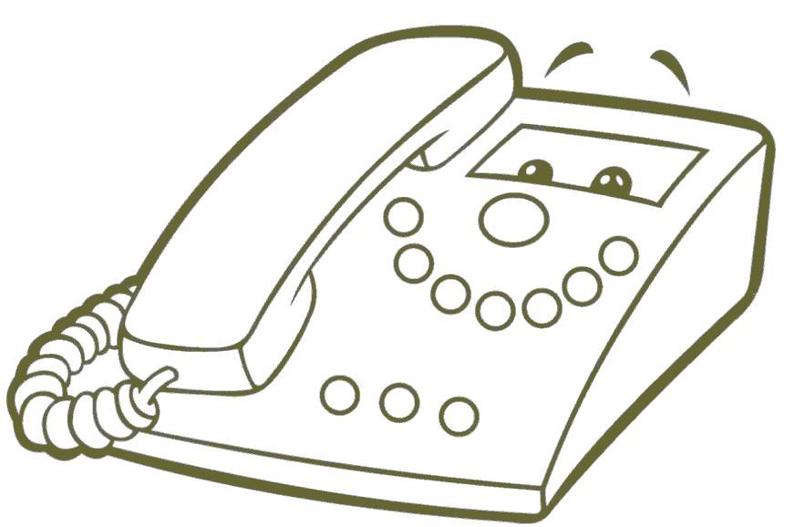Раскраска телефон со смайлом. Скачать Телефон.  Распечатать Телефон