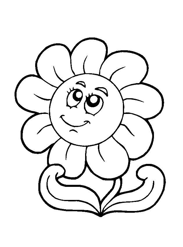 Название: Раскраска цветок цветет. Категория: Весна. Теги: Весна.