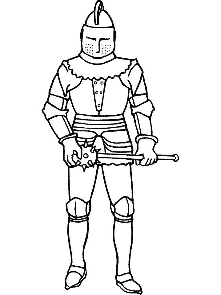 Раскраска Раскраска Рыцарь. Рыцарь