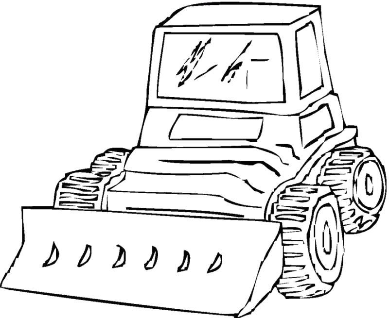 Раскраска Раскраска трактор. для мальчиков