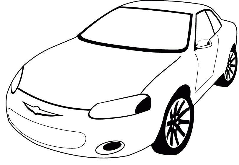Рисунки автомобилей для раскрашивания