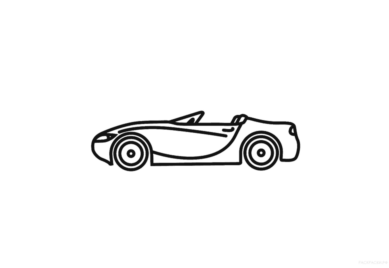 Раскраска Раскраска машина кабриолет. машины