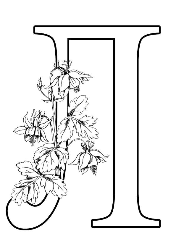 Раскраска Буква Л формата А4. Скачать Карточки с буквами.  Распечатать Алфавит