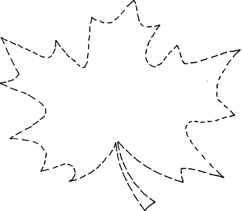 Раскраска Раскраски природа лист клена контур по точкам. растения