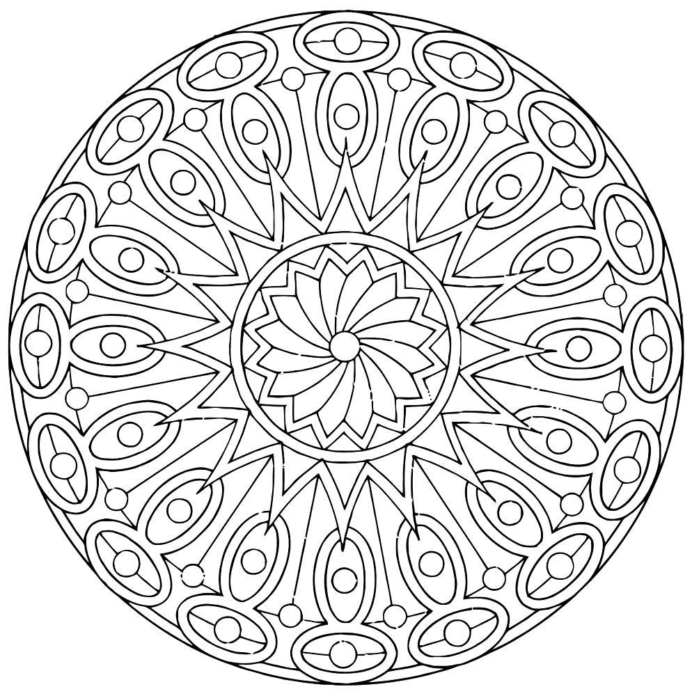 Раскраска Мандала. мандала