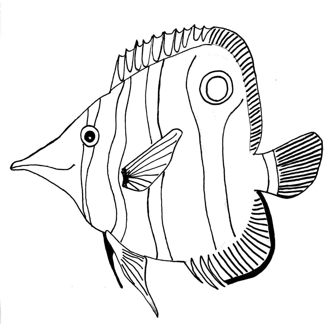 Раскраска Рыбёшка. Морские животные