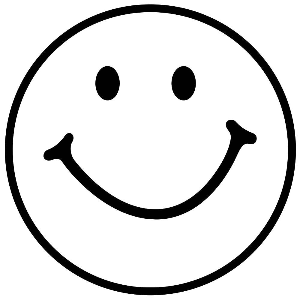 Раскраска улыбка . Скачать Смайл.  Распечатать Смайл