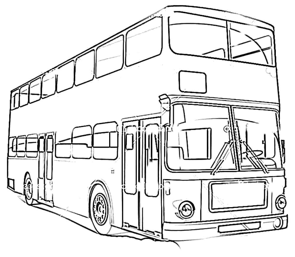 картинки автобусов для раскраски образом можно получить