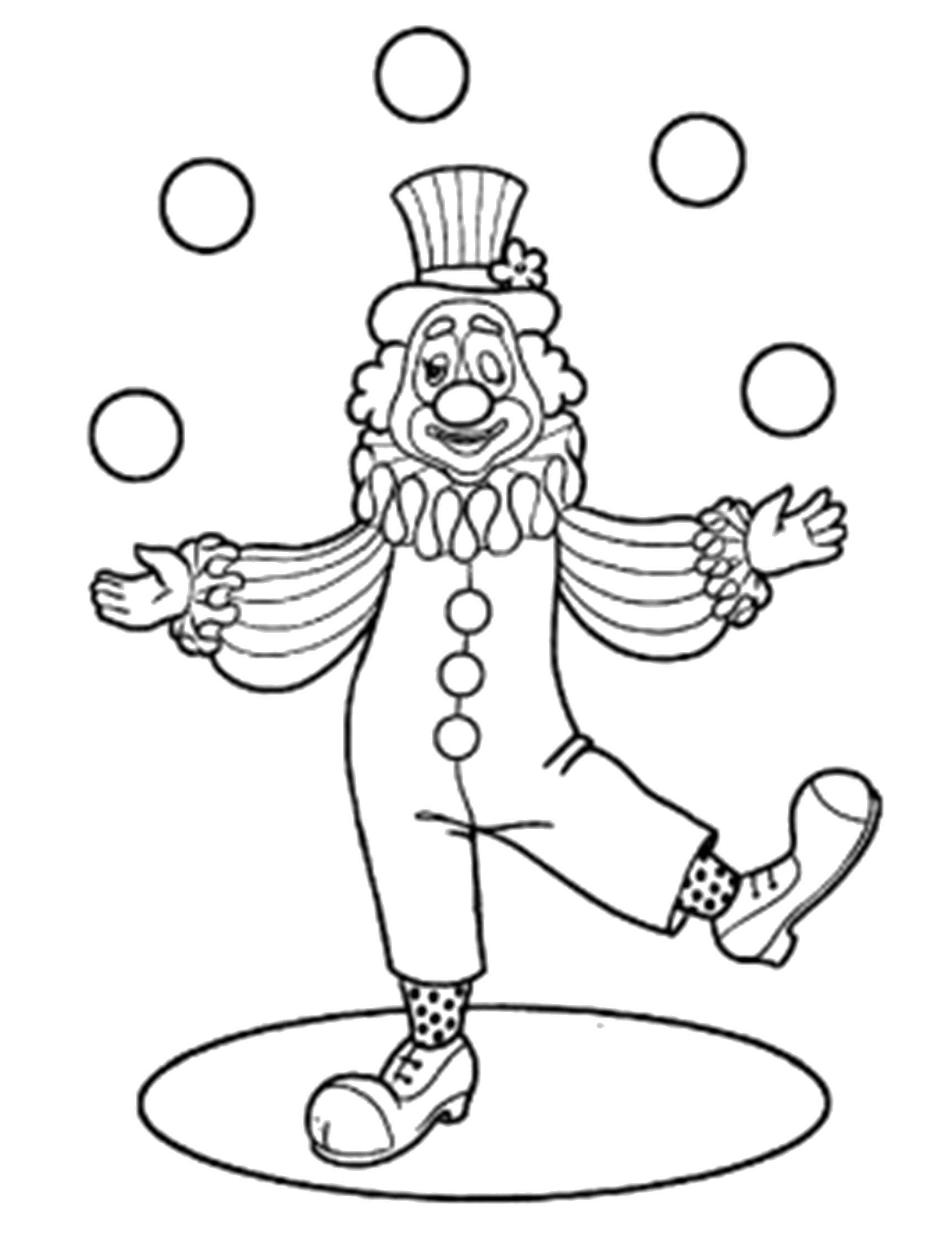 раскраска с клоунами схему потом найду