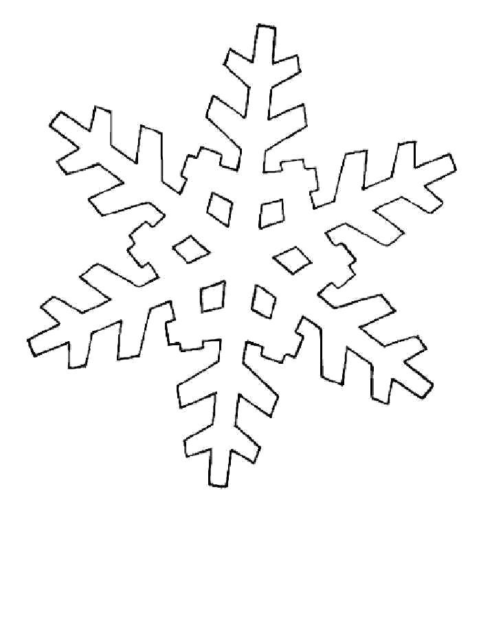 Раскраска Шестиконечная снежинка. снежинка