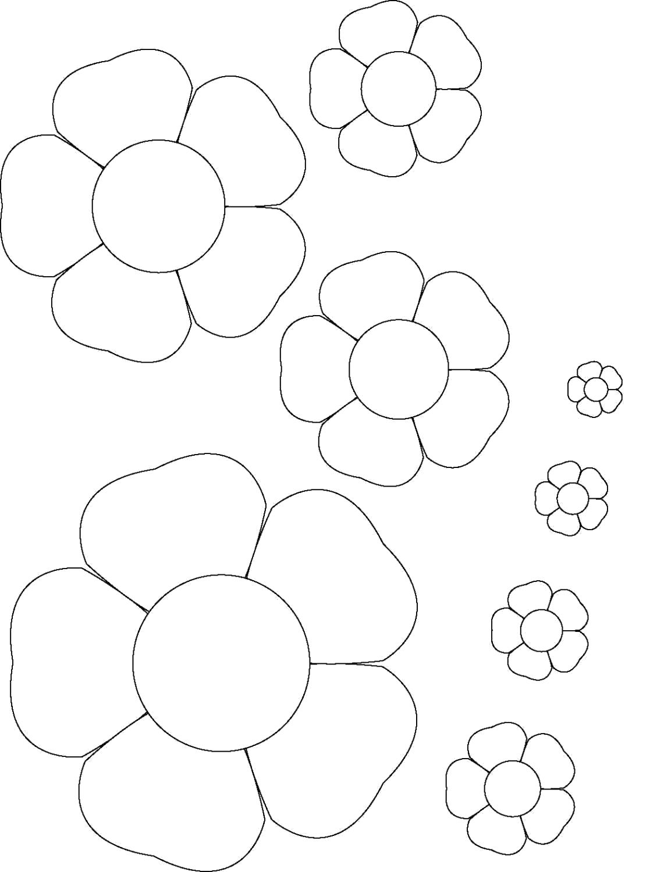 Раскраска Раскраски цветы шаблон цветов. растения