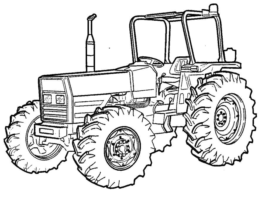 Раскраска Трактор обычный . трактор
