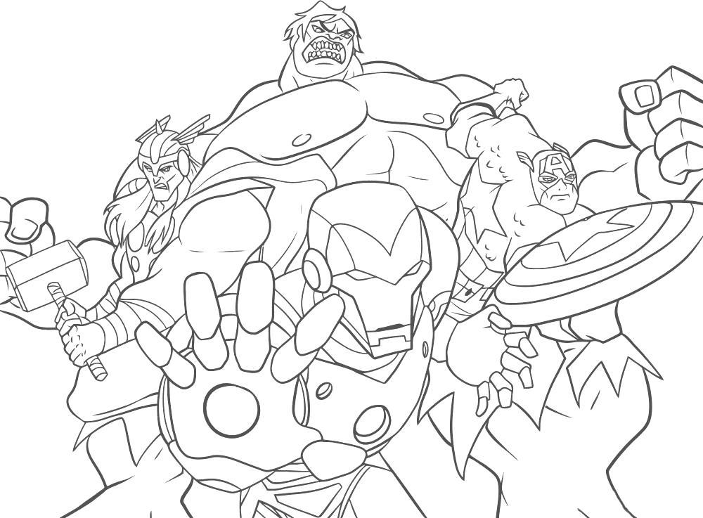 Раскраска Мстители. Скачать Мстители.  Распечатать Мстители