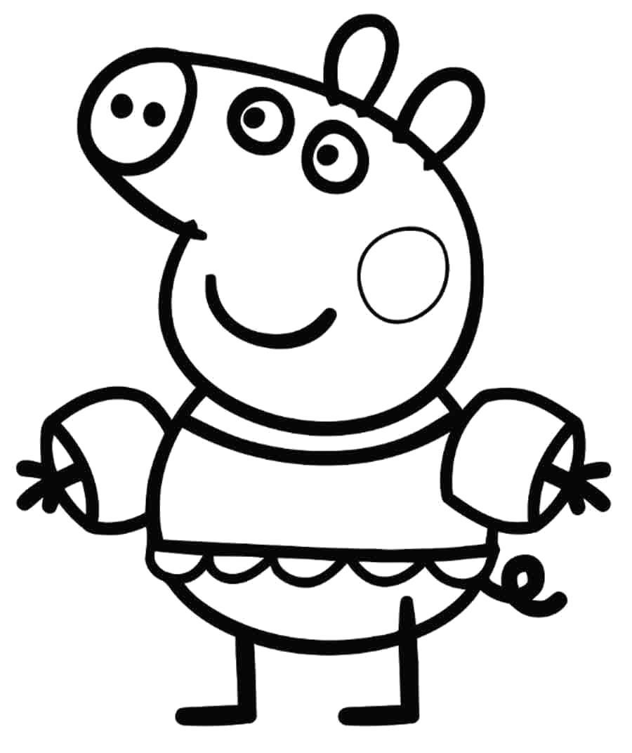Раскраска Распечатать раскраску Свинка Пеппа. Скачать Свинка Пеппа.  Распечатать Свинка Пеппа