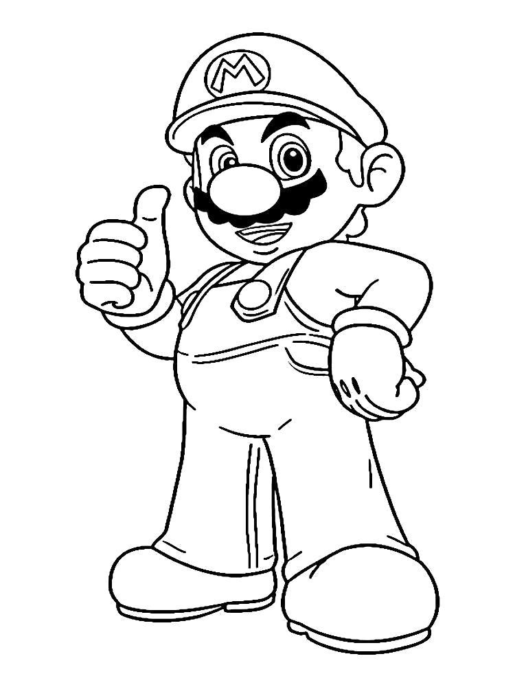 Раскраска Марио. Скачать Марио.  Распечатать Марио