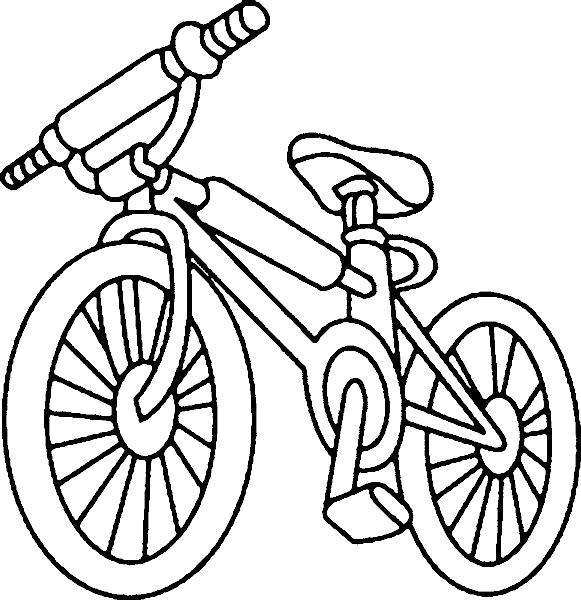 Раскраска Модный велосипед.