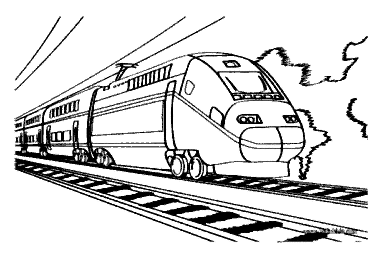Картинка для печати поезд