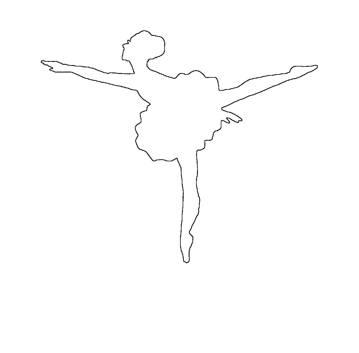 Раскраска Раскраски шаблоны балерин балерина контур, балерина для вырезания из бумаги. Шаблон
