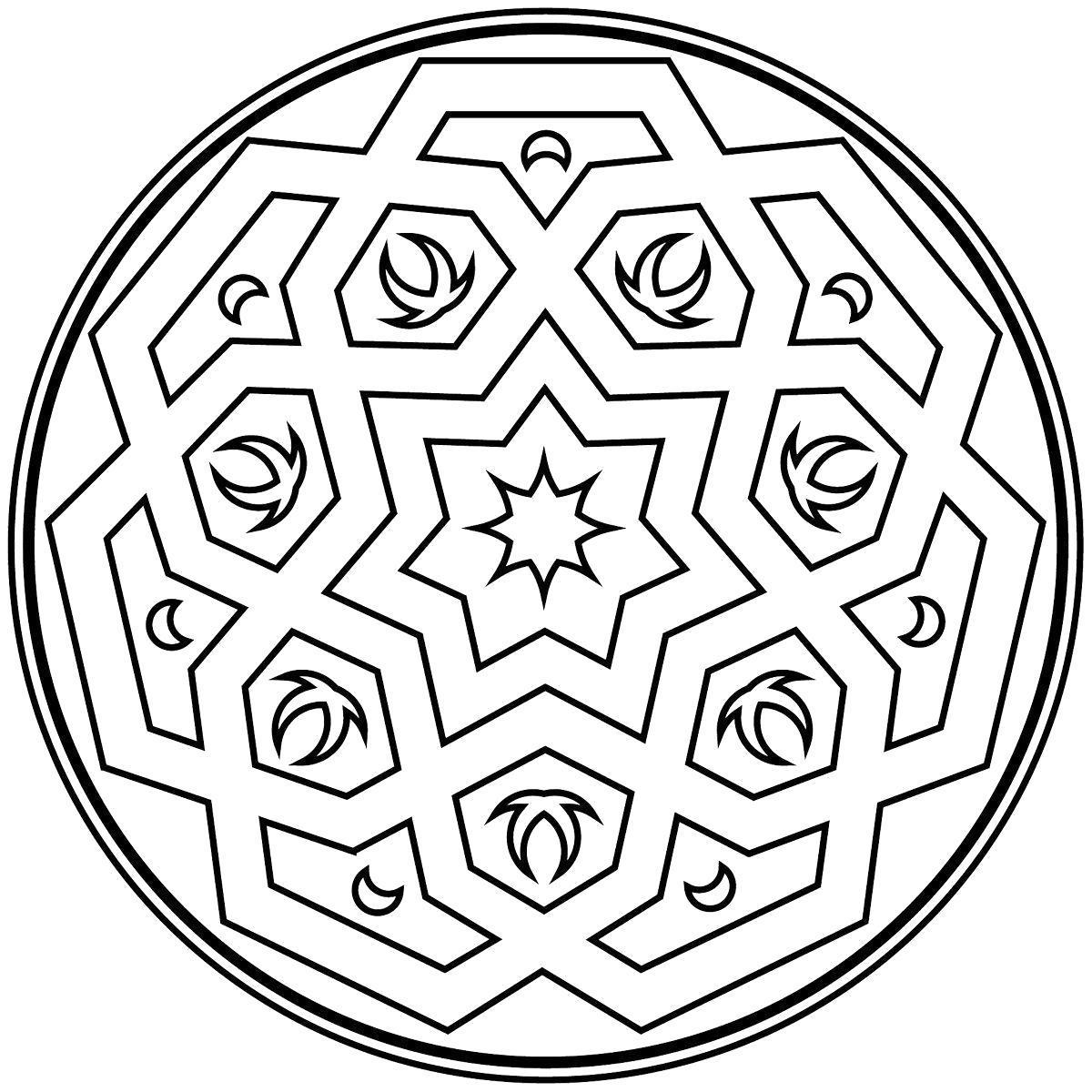 Раскраска Геометрический узор.