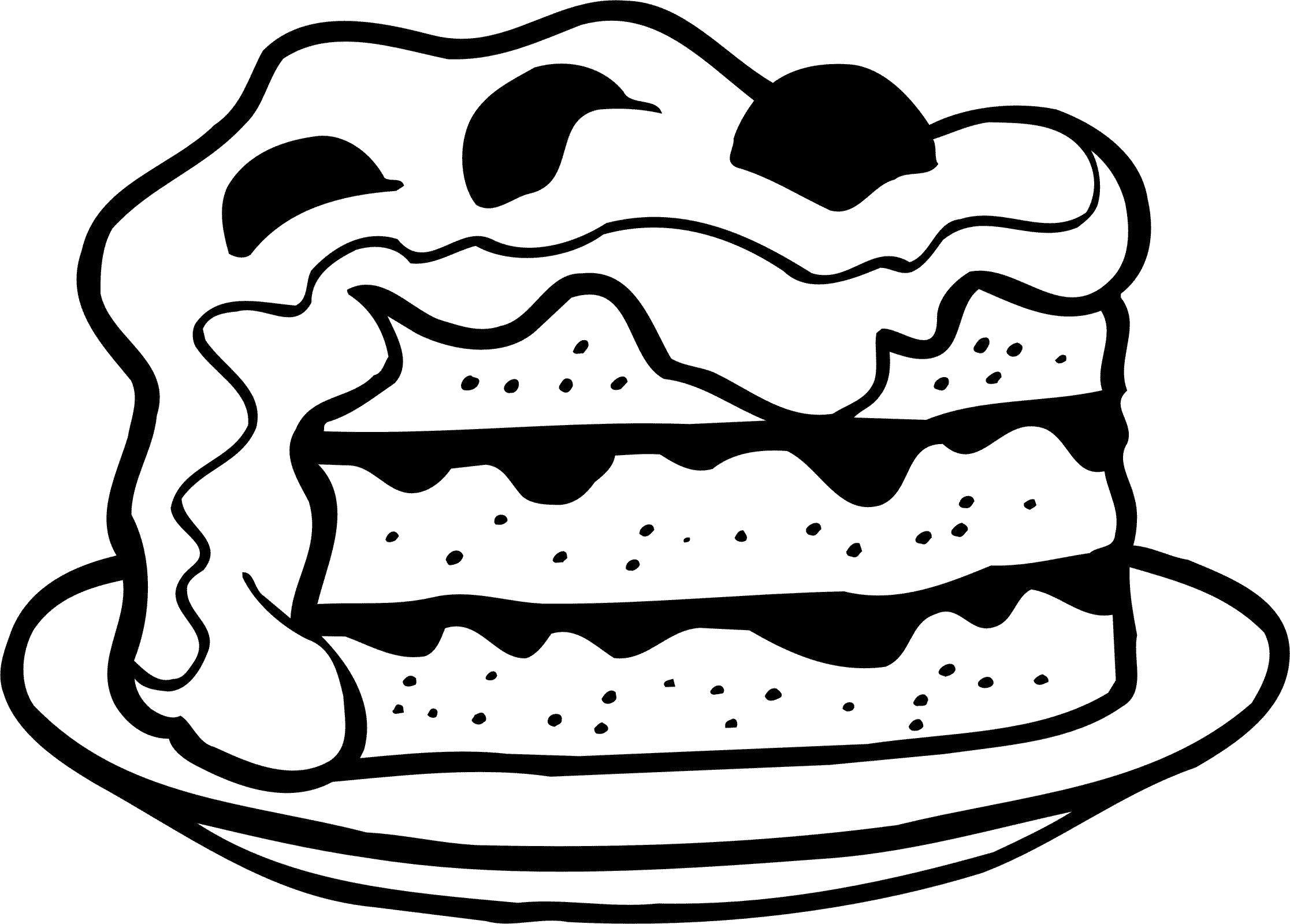 картинки для раскрашки еда для