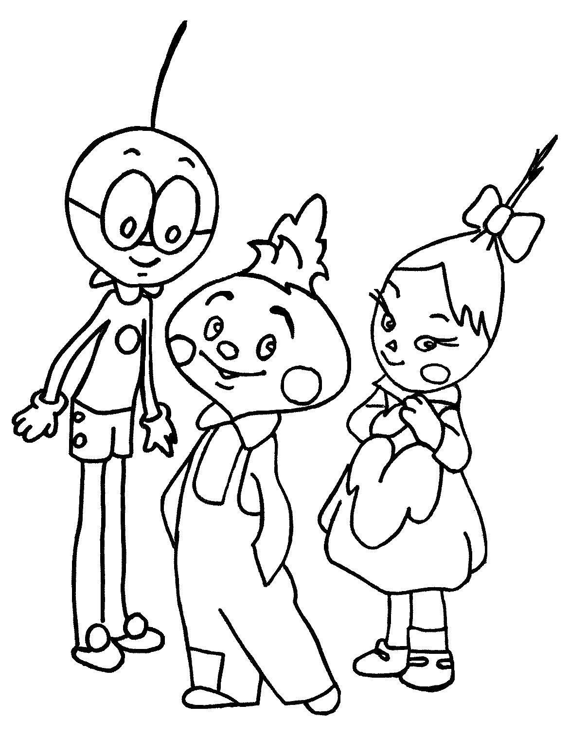 Раскраска Джанни Родари Чиполлино чтение мультфильм видео.. Скачать чиполлино.  Распечатать герои сказок