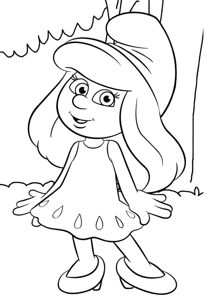 Раскраска Красивые детские ,  для детей распечатать, скачать . Скачать Смурфики.  Распечатать Смурфики