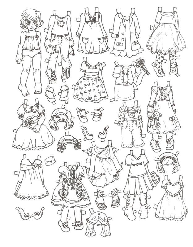 Раскраски Для девочек, Качественные бесплатные раскраски.