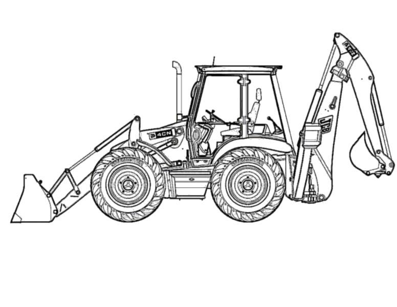 """Раскраска  """"трактор с прицепом"""" скачать и распечатать бесплатно. Скачать трактор.  Распечатать для мальчиков"""