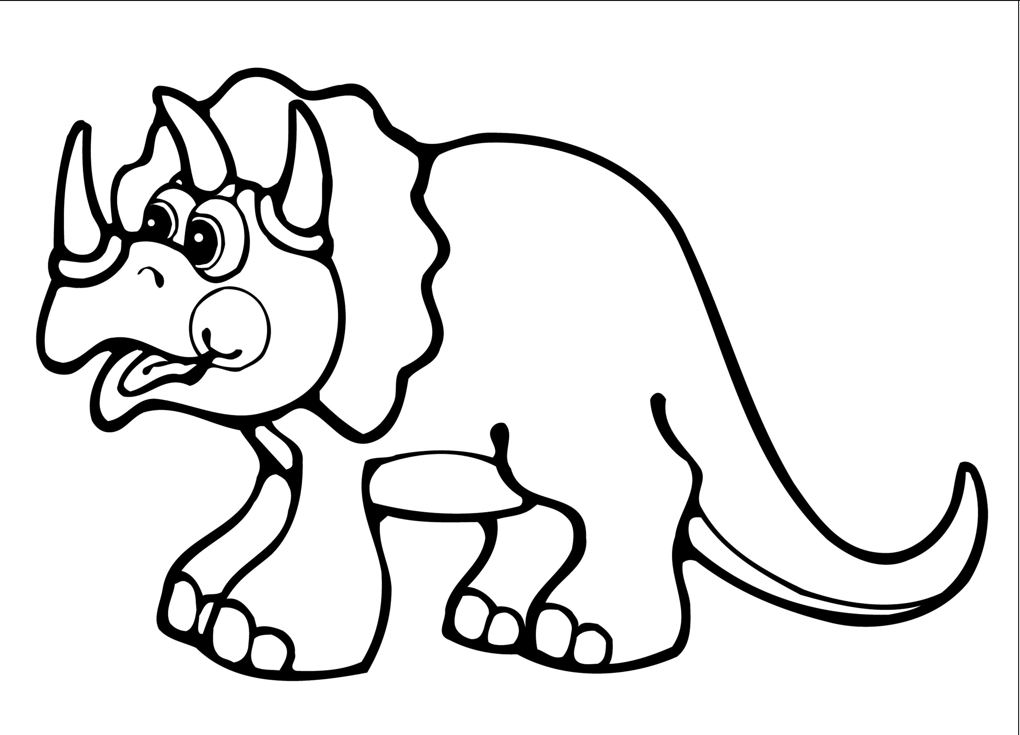 рисунок динозавра для раскрашивания