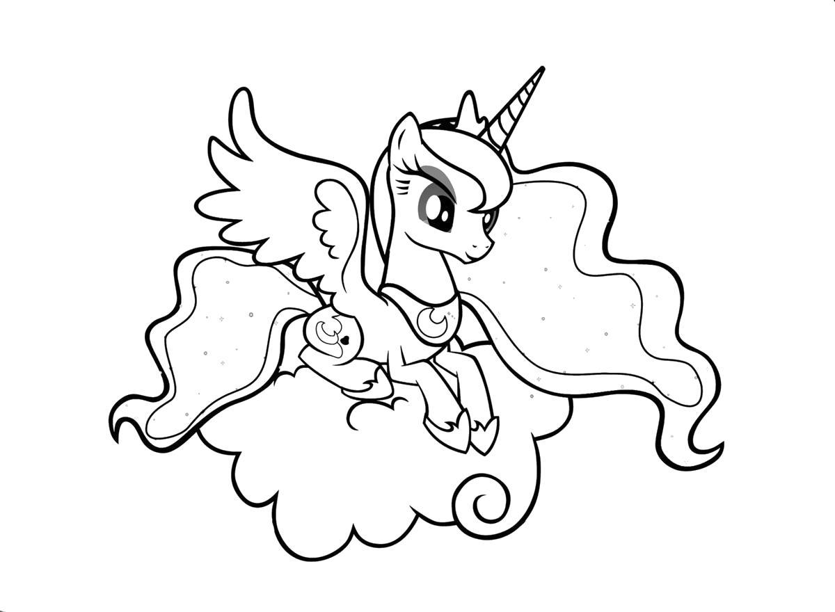 Раскраски пони, Раскраски онлайн скачать и распечатать в ...